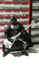 Général Grievous is not alone anymore! Member or the Imperial metal band! (Pedro Vezini) Tags: lego starwars darth vader guitar imperialmetalband