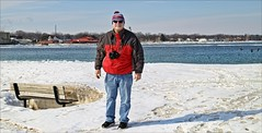 Out Enjoying The Sun (Sue90ca Still No Flic*kr At Work :() Tags: canon 6d daryll stclair river snow ice