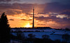 Snowy sunset (littlestschnauzer) Tags: emley moor mast west yorkshire uk beast east snowy snow landscape tall structure 2018 landmark winter wintry
