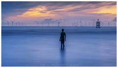 Where there is light, there is hope (Tony Lu) Tags: sunset longexposure human sculpture seascape windturbine leefilter liverpool antonygormley merseyside sonya7rm2 canon70200f4lusm