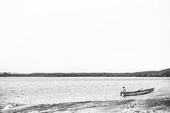 Little man and Great Nature (rqserra) Tags: minimal minimalism minimalist minimalista minimalismo fineart fineartphoto finearts bw bwphoto blackandwite backtoblack contemporary contemporaryphoto contemporaryartist rqserra brazil boat man