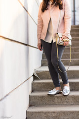 Pink leather jacket, white silk blouse, grey denim, silver mules-21.jpg (LyddieGal) Tags: athleta grayson lineapelle blush coloreddenim denim fashion gap grey jcrew leatherjacket loafers mules officestyle outfit rayban silkblouse silver spring style sunglasses tjmaxx vionic wardrobe weekendstyle white