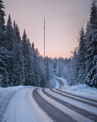 Winter Road (laurilehtophotography) Tags: 2018 ladunmaja talvi suomi finland jyväskylä nature landscape road winter trees forest sunset sky evening nikon d610 tamron 2470mm ice snow amazing europe earth outdoor