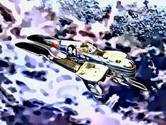 "(Inspired by) Last Exile +++  1:48 Vanship Racer '#24' (Kitbash, Groupbuild 2015 ""Phoxim GrandPrix"" submission) (dizzyfugu) Tags: last exile vanship scratch scratchbuilt kitbashing smer f4u stuka ju87 pen roller toothbrush retro stutz blackhawk railton land speed record futurism claudia recator levitation propulsion anime figure 148 modellbau dizzyfugu whif whatif model kit mecha flying fictional aviation prester nmf bare metal aluminum racing racer 24 silver shiny weird plastic knife knives"