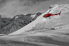 ICELAND Helicopter landing (mickhanks) Tags: helicopter iceland landing red as350b2