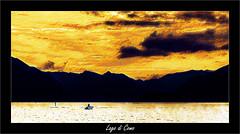 Lac de Côme (Jean-Louis DUMAS) Tags: lacdecôme lac water etang montagne bateau penture art artist artistic artistique italie sea mer lombardie