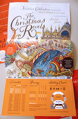 The Christmas Revels 2017: A Venetian Celebration (Cahoots Design) Tags: revels theater theatre sing song celebrate celebration folk singers cambridge boston winter community child kids performance sanders harvard print illustration italy italian venice christmas holiday carminebellucci painting tickets music story culture art education history renaissance doge crossroads chorus tradition brochure mail mailer poster posterart