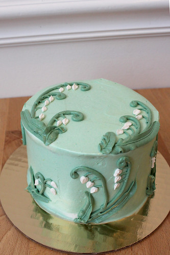 Lilly of Valley, Snowdrops Buttercream Cake