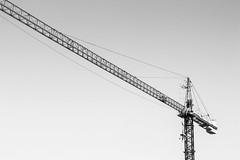 3/100x (Explored) (eskayfoto) Tags: canon eos 700d t5i rebel canon700d canoneos700d rebelt5i canonrebelt5i monochrome mono bw blackandwhite 100x 100xthe2018edition 100x2018 image3100 sk201801207992editlr sk201801207992 lightroom crane sky metal lines lanzarote playablanca building build