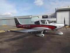 N10CD Cirrus SR22GTS Private (Aircaft @ Gloucestershire Airport By James) Tags: gloucestershire airport n10cd cirrus sr22gts private egbj james lloyds