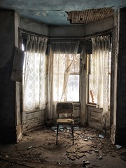 the chairs remain empty...(at never be nervous again house) (Aces & Eights Photography) Tags: abandoned abandonment decay ruraldecay oldhouse abandonedhouse