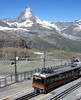 Gornergrat Bahn, Switzerland - Bhe 4/8 Unit No. 3054 at the Summit with the Matterhorn in the distance on the 10th July 2008 (trained_4_life) Tags: switzerland valais gornergratbahn gornergratrailway ggb matterhorn rackrailway cograilway