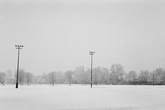 White Playground (mmaslyuk) Tags: blackandwhite vancouver winter snow 400 tmax analog film kodak canonet17 canonet canon