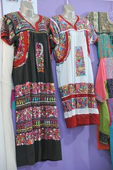 Embroidered Dresses Oaxaca Mexico (Teyacapan) Tags: sanantonino dresses vestidos embroidered oaxacan mexican ropa markets clothing