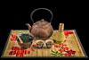 Japanese Hot Tea.jpg (mraderstorf) Tags: wood fragrant bamboo boil relax blossom 36549 organic steam tea meditation hot taste matcha japanese mat cherry fern green nikon50mmf14 stain red 365project nikond700 spoon ironteapot project365 food