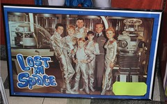 A poster of Lost IN Space next to Robot in the previous picture. (hbk1955) Tags: lostinspace poster tv tvshow 1960s actors