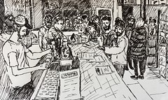 Wicked Weed Tap Takeover at Sam's Quick Stop Durham, NC #drawing #sketch #sketchbook #penandink #samsquikshop #durhamnc #beer #wickedweed #bar #picturedurm #illustration #ashevillenc (webloreArt) Tags: drawing sketch sketchbook penandink samsquikshop durhamnc beer wickedweed bar picturedurm illustration ashevillenc