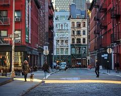 Ahead of the morning bustle (ginoNYC) Tags: nyc sohonyc architecture cobblestonestreets citylife downtown manhattan lowermanhattan newyorkcity newyork soho city living cityliving