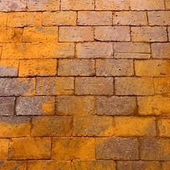 orange on brown (francois f swanepoel) Tags: textures brown orange brick oxidation