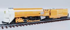 Steam Orange Express (Sunder_59) Tags: lego moc render blender3d mecabricks transport train rail locomotive engine steam railway vehicle