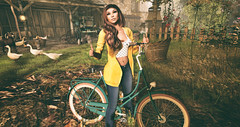My Bicycle (♥Kelly Parker♥) Tags: secondlife sl virtual 3d avatar secondlifeblog blog slblogger blogger fashion fashionblog secondlifefashion secondlifeblogger stealthic collabor88 c88 glamaffair lelutka bentohead bento maitreya meshbody mesh slink belleza tresblah newrelease new spring blueberry fashiowlposes treschic pose poses bentoposes bicycle style stylish cardigan tank cute pretty slfashion bike