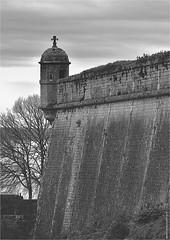 CV 255 (cadayf) Tags: 33 gironde blaye citadelle fortification vauban unesco nb bw paysage landscape