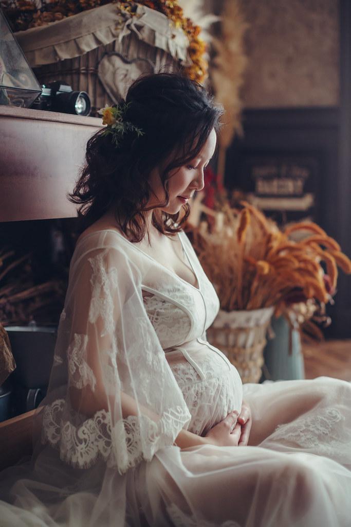 32週孕婦寫真|浪漫華麗又時尚|愛情街角 澤于
