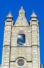Celestial window (jeffyphotos) Tags: guelphontario guelphchurches churchsteeples stonebuildings