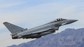 Eurofighter Typhoon FGR4 of RAF No 6 Squadron,