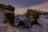 Snowy Crags (Kyoshi Masamune) Tags: edinburgh edinburghcastle edinburghatnight snow snowscape snowylandscape citypanorama cityscape night nightphotography uk scotland scottishcastle longexposure tokinaatxpro1116mmf28dxii tokina1116mmf28 salisburycrags holyroodpark holyrood arthursseat kyoshimasamune ultrawideangle wideangle
