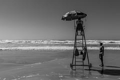 High tide... (jose_maron) Tags: beach sand sands water ocean sea tide black pleople sun sunny day light nature horizon waves sky hightide sunnyday summerday lifeguard blackandwhite beachlife lifeonthebeach