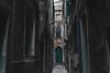 Somewhere in venice (DeeBeeDoop) Tags: door green tunel alley