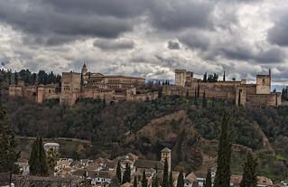 Vista de  La Alhambra desde San Nicolas