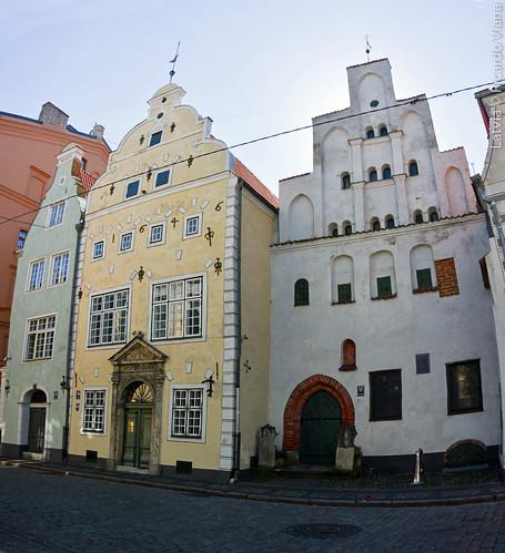 The Three Brothers building. Riga, Latvia.