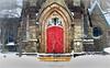 The Red Door (soupie1441) Tags: london ontario canada church red door nikon d7200 tamron 2470mm snow st john evangelist anglican
