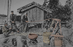 The catch of the day (Finland 1920s) (frankmh) Tags: fishing people fish catch 1920s finland outdoor