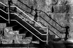 (see it, shoot it) Tags: leica35cmsummaronltm leicam246 newbrighton railing steps shadow contrast beach shore sunlight wirral mono bw stone wall