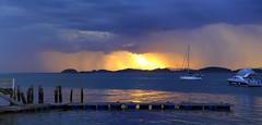 Pôr do Sol (Paulo_Padilha) Tags: pôrdosol sunset sãofranciscodosul santacatarina sun boat pier mar chuva reflexo paulopadilha brasil brazil barco litoral