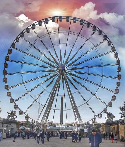 Paris France - The Roue de Paris - Ferris Wheel -