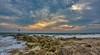 Hengistbury Head, Bournemouth - 2015 (WatsonMike) Tags: 2015 bournemouth coast coastline england hengistbury ipsv0462 ipsv0798 ipsv5271 ipsv5272 newkeywords scenic sea seascape sun sunset tourism travel water weather breakwater clouds coastal groyne groynes