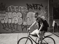 Bowery, NYC (SG Dorney) Tags: street streetphotography ny nyc newyorkcity bw blackandwhite monochrome streetphoto people life manhattan bowery graffiti