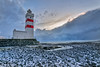 Gardur Lighthouse (Clint Everett) Tags: landscape sunset winter iceland lighthouse gardur reykjanes peninsula rocks sea atlantic ocean shore