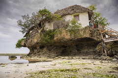 The Rock (hph46) Tags: sansibar therock zanzibar tanzania indianocean lowtide coast beach restaurant sand water sony alpha7r canonef2470mm14lisusm