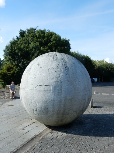 Granite sphere, Creetown, by Hideo Furuta
