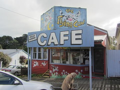 Flying Cow Café, Fish Creek (d.kevan) Tags: cafés verandahs decorativedetails curiosities animals cows signs mum shopfronts traditionalarchitecture victoria gippsland fishcreek australia