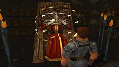 Conjuring the Key (Chainmail Shirt & Leather Gloves & Boots) (BarricadeCaptures) Tags: kingsquest kingsquestmaskofeternity maskofeternity dimensionofdeath connorofdaventry connor chainmail chainmailshirt leathergloves leatherboots lordazriel lordazrielssanctum gamescreenshots gamephotography videogame screencapture screenshot screencap