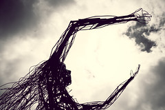 Reaching up.- (Gonza.M) Tags: abstract black white mono monochrome sculpture art