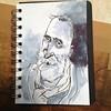 John Byrne Artist & Playwright (Ron Bookless: Illustration) Tags: johnbyrne tuttifrutti theslabboys slabboys scottishart sketchbook portrait