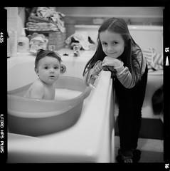 Bronica SQ-A-045-010 (michal kusz) Tags: 120 6x6 v600 ilford film frame format sqa squere sq bronica bw blackandwhite baby bath bathroom hp5 pushed kids zenzanon s 40mm 3200 epson ilfosol