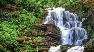 Waterfall Shepit. Zakarpattia.